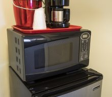 Mini-Fridge, Microwave, & Coffee service