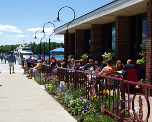Al fresca dining options line the waterfronts of near-by Harbor Springs and Charlevoix