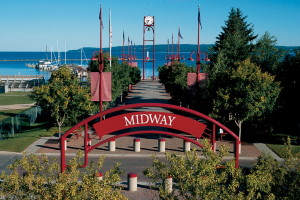 Take an afternoon stroll along Petoskey's well manicured waterfront.