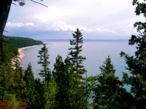 The near-by Tunnel of Trees, following the Lake Michigan shoreline, is one of country's most notable stretches of scenic highway.